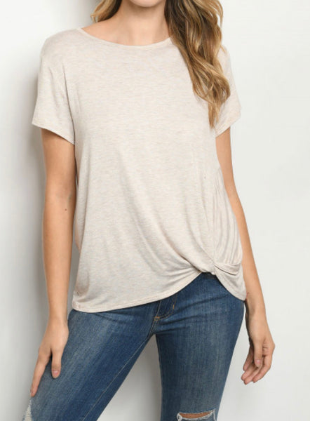 #1663 Oatmeal Twist Basic Tee