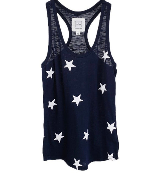 #1676 Navy Star Racerback