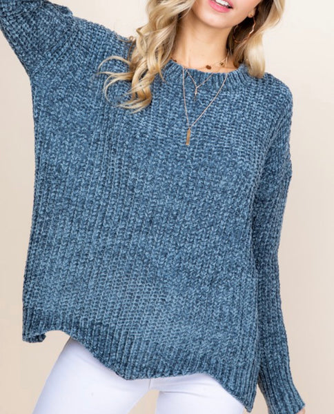 #741 Winter Blues Chenille Sweater