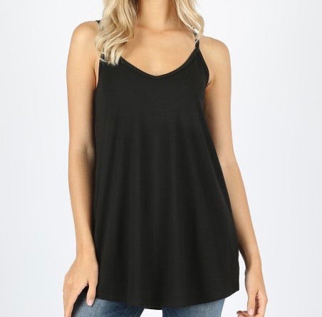 #2370 Reversible Black Cami