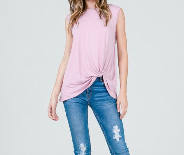 #512 Blushing Pink Twist Top