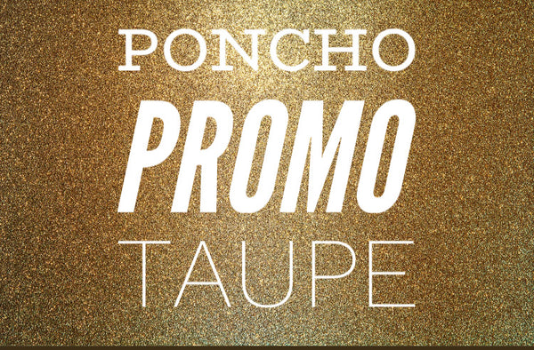 #807 Taupe Poncho - One Size Final Sale
