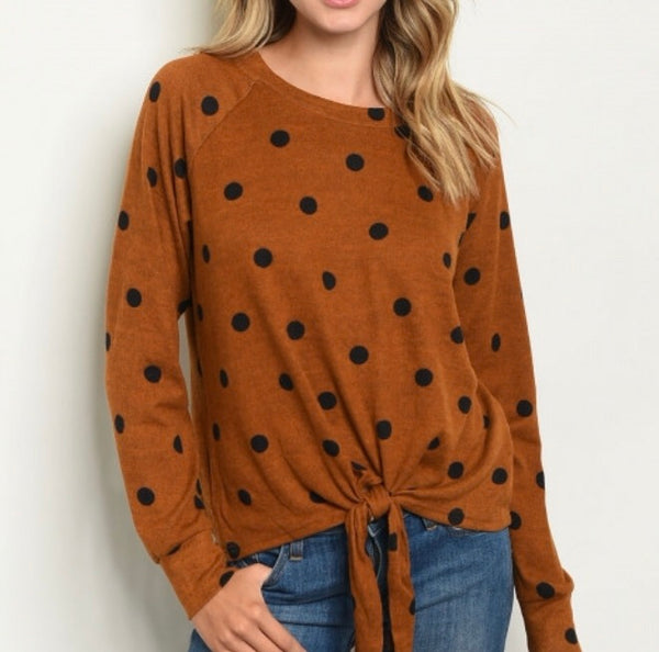 Spiced Polka Dot Top