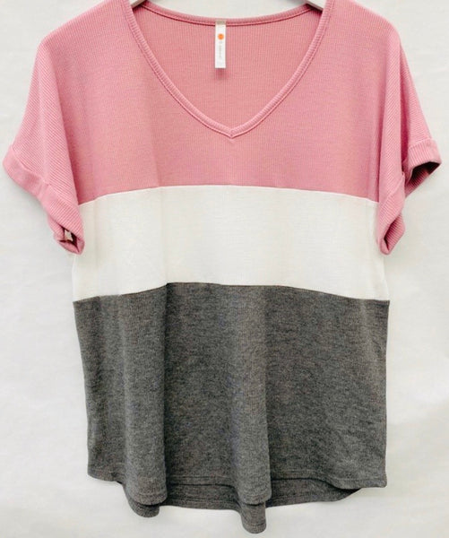 #1103 Colorblock Mauve/White/Gray