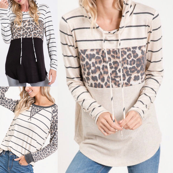 Leopard Stripe Assorted Top