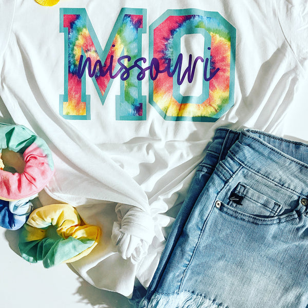 #1790 Missouri Tie Dye Graphic Bella Canvas Unisex Fit