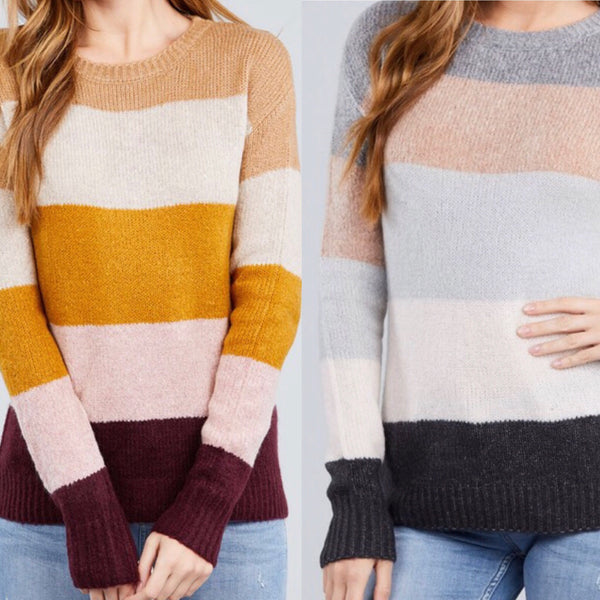 Color Block Sweater Assorted