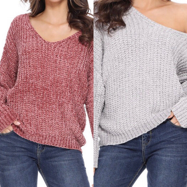 Chenille Sweater Assorted Color