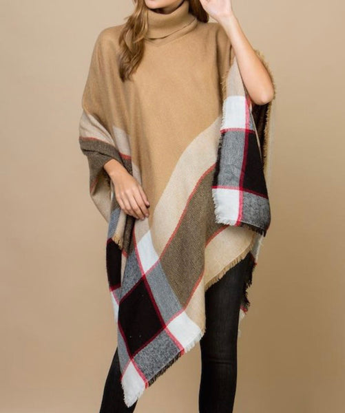 Burberry Plaid Poncho
