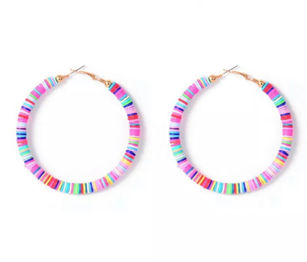 #1768 Oasis Hoop Earrings