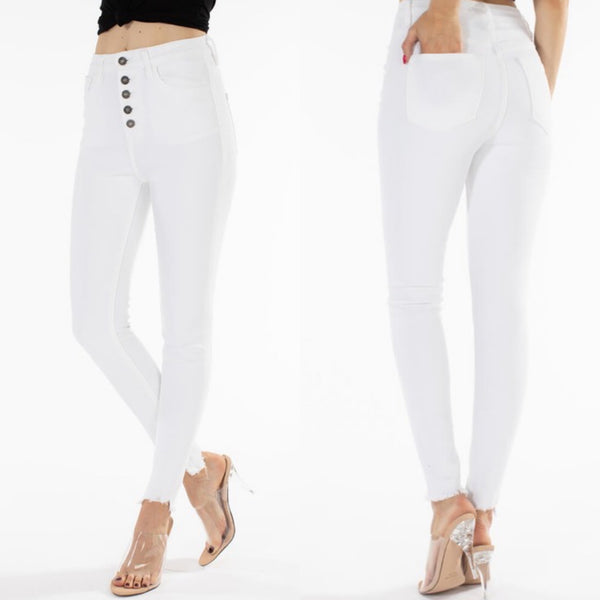 #1 White Kancan High Waist Jeans