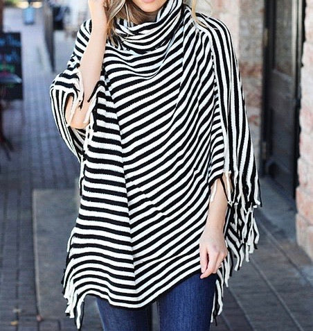 Stripe Poncho Assorted