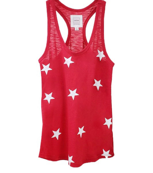 #1677 Red Star Racerback