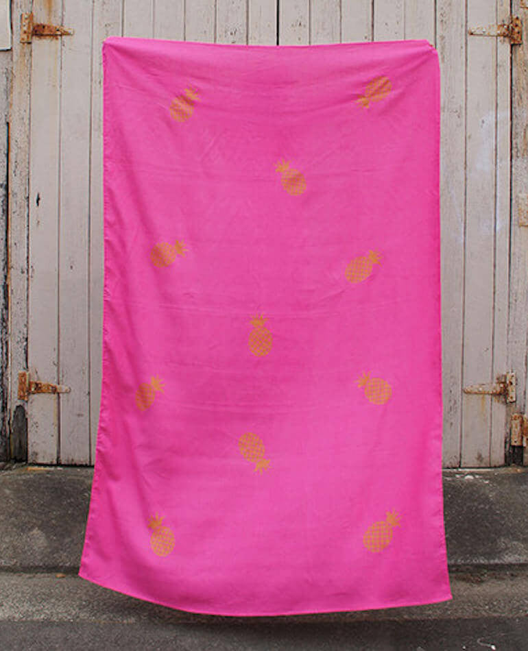 Taylor + Cloth | Screen Printed Linen Throw | backstreetshopper.com.au