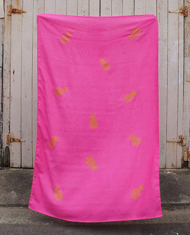 Linen Throw/Sarong - Hot Pink
