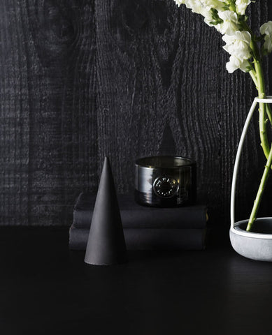 Black Concrete Cone / Paper Weight