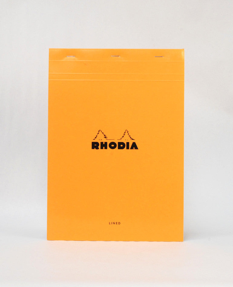 Stapled Pad, Orange Cover A4 | Rhodia | BackstreetShopper.com.au