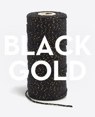 Bakers Twine - Black and Gold