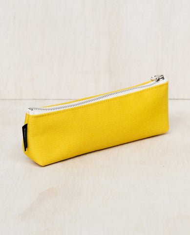 CANVAS THIN PENCIL CASE, YELLOW