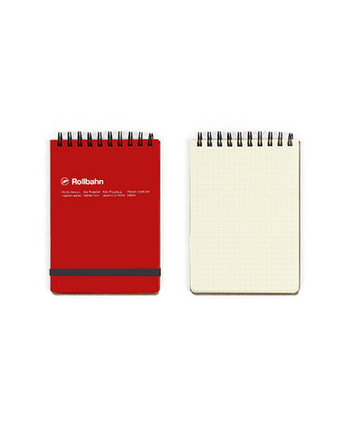 ROLLBAHN NOTEBOOK, MEMO, RED | Delfonics | BackstreetShopper.com.au