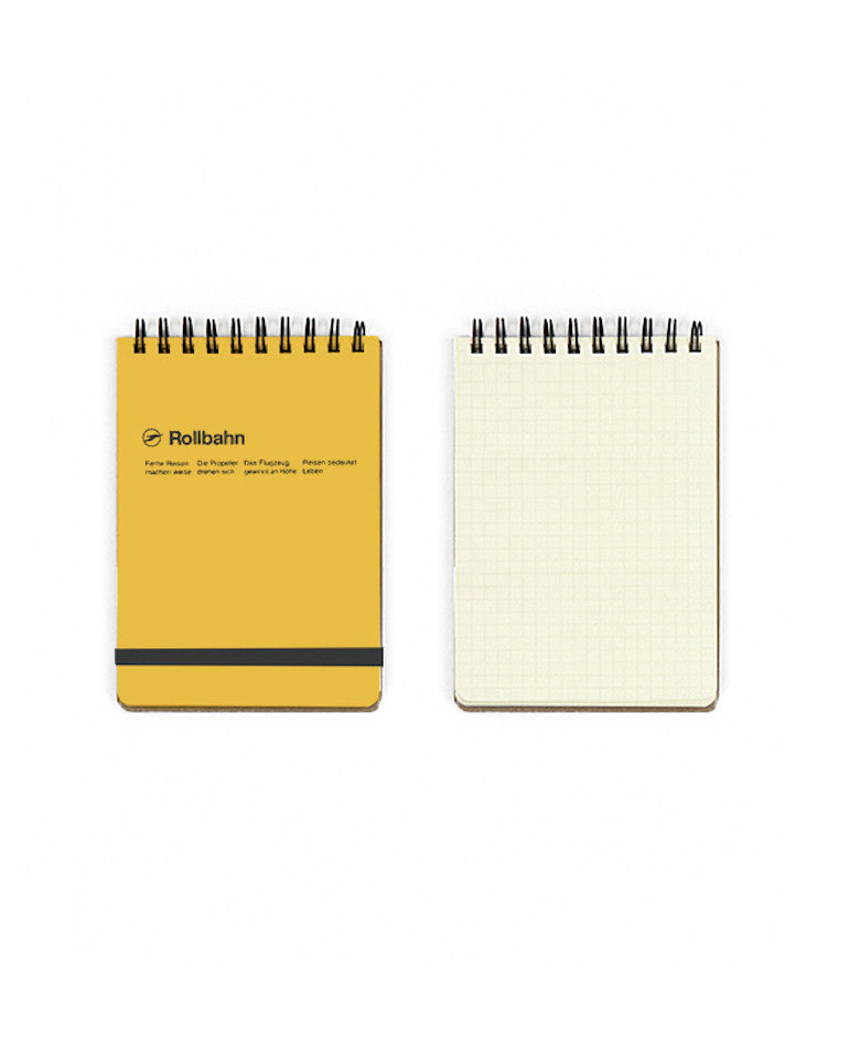 ROLLBAHN NOTEBOOK, MEMO, YELLOW | Delfonics | BackstreetShopper.com.au