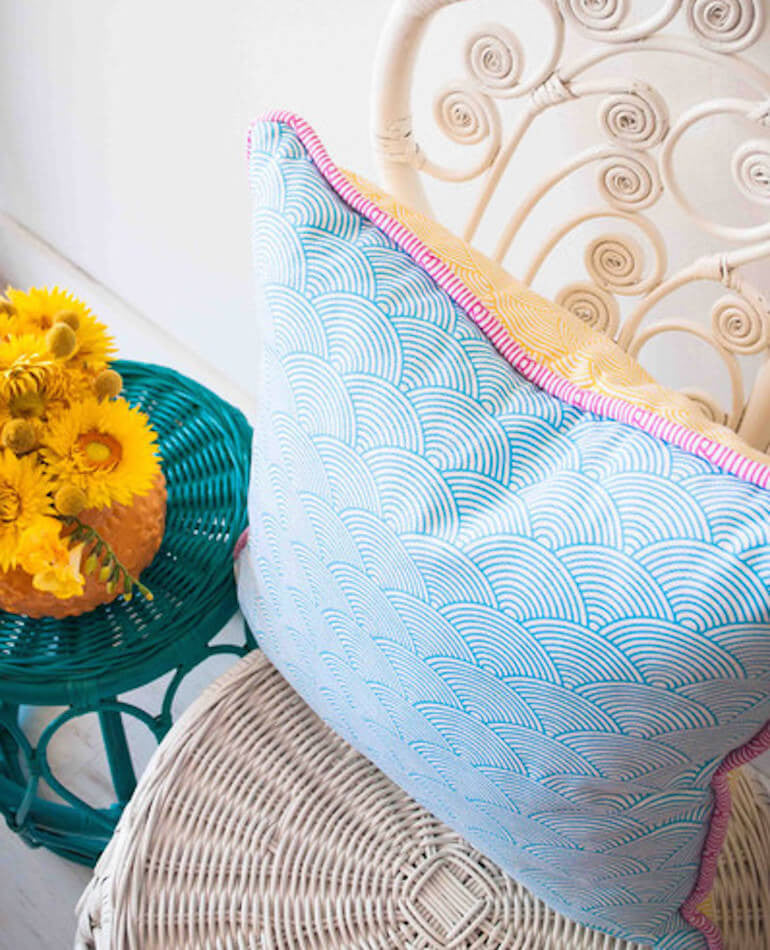 RAINBOW SCALES CUSHION | Milly + Eugene | BackstreetShopper.com.au