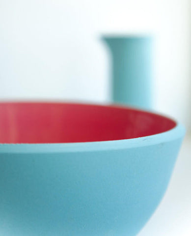 COLOURED SANDS LARGE SALAD BOWL - SKY BLUE/BABY PINK