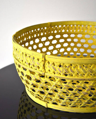 YELLOW FISHERMAN'S BASKET
