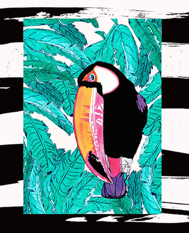 SALLY TOUCAN ART PRINT - A3