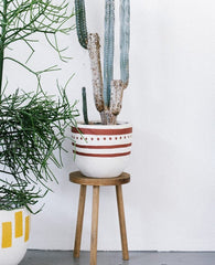 Pearl Tribal Pot - Terracotta