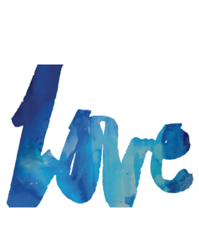 Blue Love Art Print