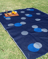 Taylor + Cloth | Spotted denim picnic blanket | BackstreetShopper.com.au