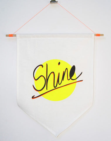 'Shine' Wall Flag