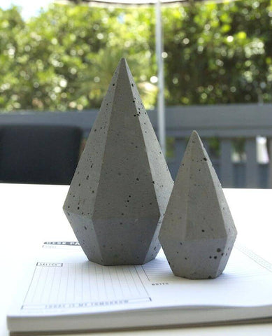 Zakkia | Concrete Diamond / Paper Weight | BackstreetShopper.com.au