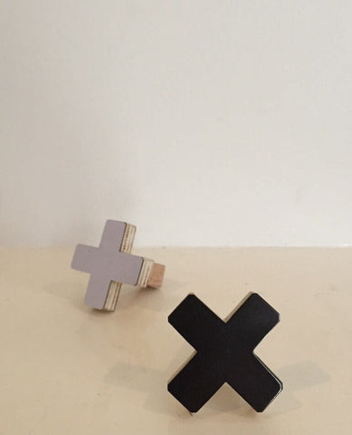 Cross Wall Hook - Small Black