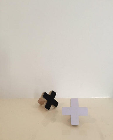 Cross Wall Hook - Small White
