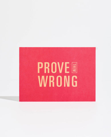 GOAL CARD: PROVE THEM WRONG