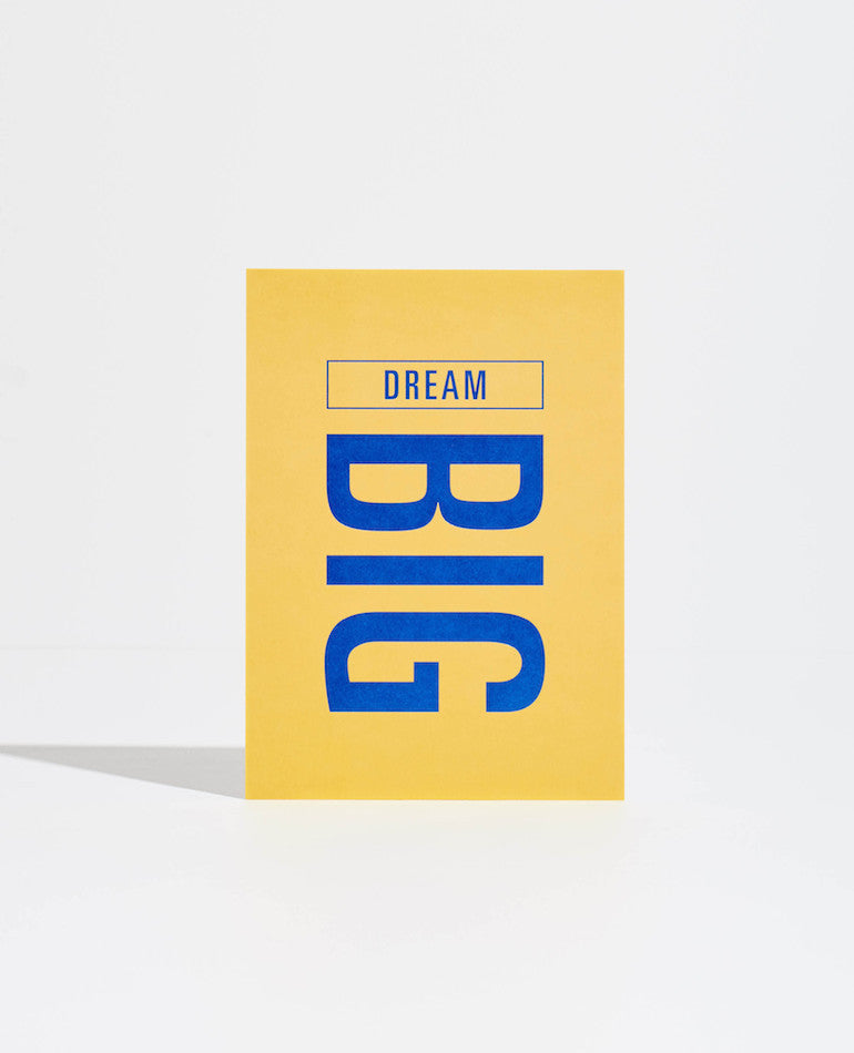 Mi Goals | GOAL CARD: DREAM BIG | BackstreetShopper.com.au