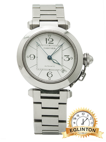Cartier Pasha Automatic Stainless Steel White Dial 35mm 2324