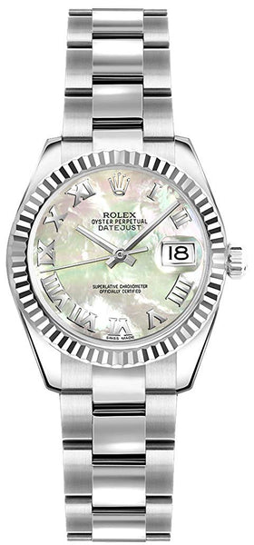 Rolex Lady-Datejust 26 Women's Watch w/Mother of Pearl Roman Numeral Dial (ref. 179174)