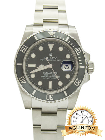"Rolex Oyster Perpetual Submariner Date Stainless Steel 116610 LBN ""2016"""