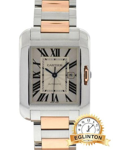 Cartier Tank Anglaise Large Automatic  Two Tone Rose