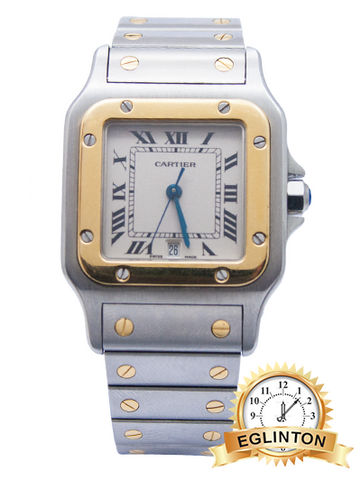 Cartier Santos Two Tone Quartz