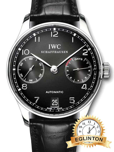 IWC Portuguese Automatic Black Dial Steel Black Men's Watch