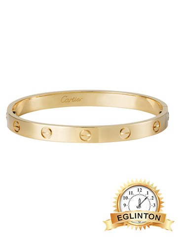Cartier Love Bracelet 18k Yellow Gold with Box & Papers Size 19