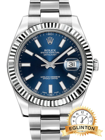 ROLEX Datejust II Blue Dial Stainless Steel  41MM
