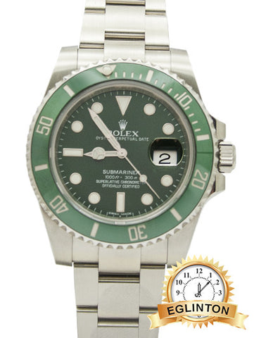 "ROLEX Submariner Green Dial Steel Men's Watch ""The Hulk"" 2010 W/ Box & Paper"