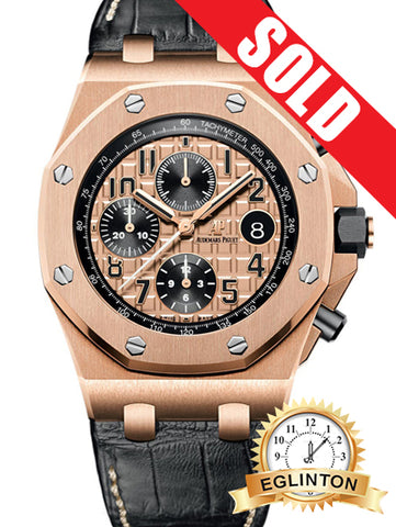 AUDEMARS PIGUET Royal Oak Offshore 18kt Pink Gold Automatic Men's Watch SOLD!!