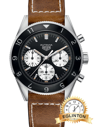 HEUER Heritage Automatic Black Dial Men's Watch box & papers
