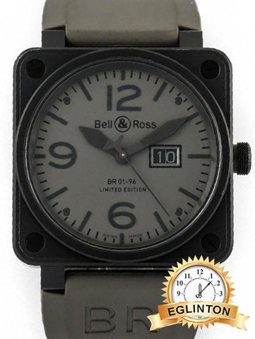 Bell & Ross BR01-96 Commando Big Date - Ref. BR01-96-SBla - Special Edition Only 500 Pieces - 46mm PVD-Coated Stainless Steel